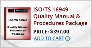 iso-ts-16949-quality-manual-procedures-package-standards