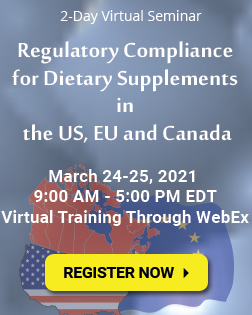 Regulatory Compliance for Dietary Supplements