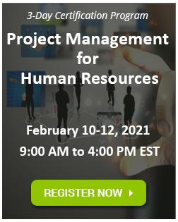 HR Project Management Certification Program