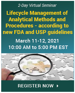 Analytical Methods and Procedures Lifecycle Management