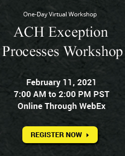 ACH Exception Processes Workshop