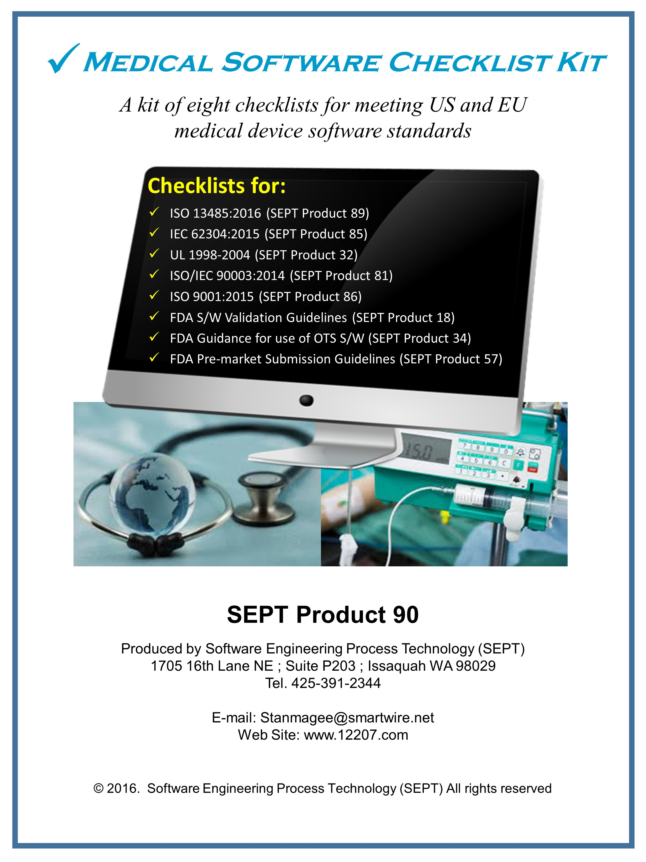 Iso 13485 Iec 60601 Ansi Standards Checklists Medical Device Firms Fda Software Validation