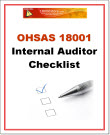 OHSAS 18001 Internal Audit Checklist