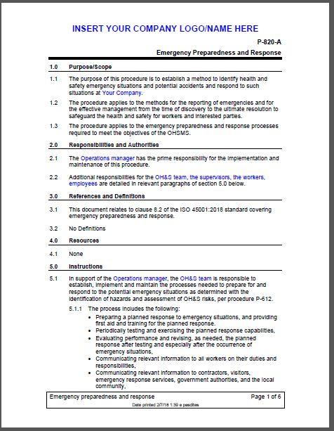 Safety Engineering Standards | OHSAS 18001 Standard