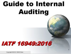 16949:2016 Internal Auditor Training & Checklist Package