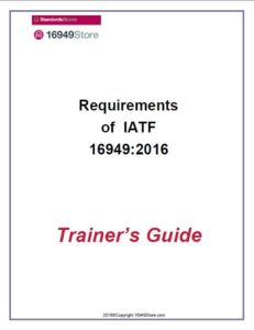 16949:2016 PPT-Requirements of IATF 16949 Training Materials