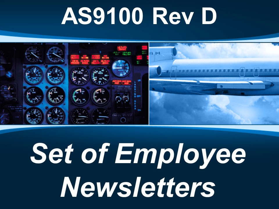AS9100d Set of Employee Newsletters