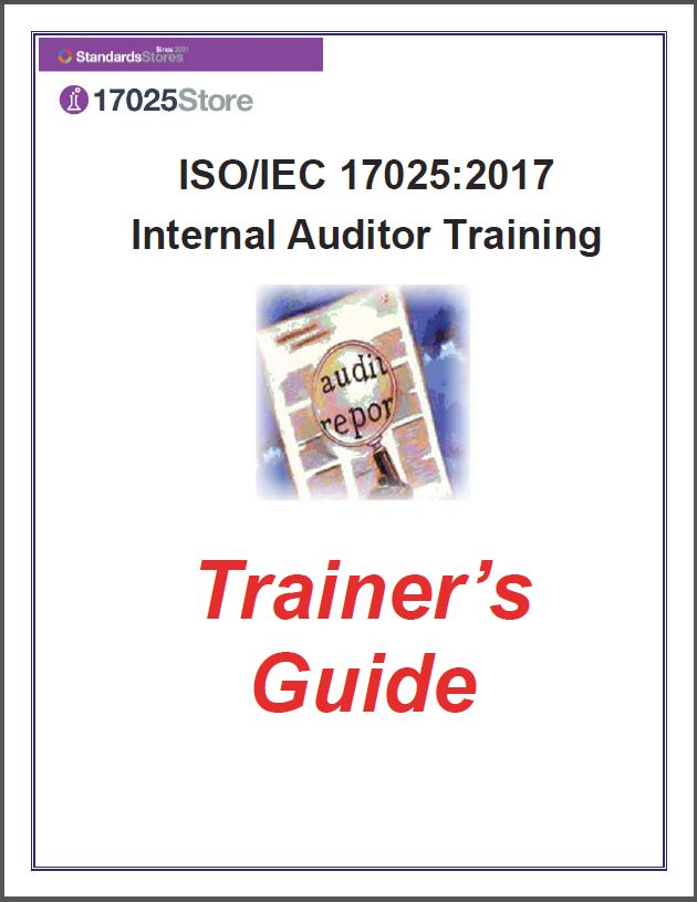 17025:2017 Internal Auditor Training Materials