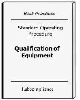 Qualification of Equipment