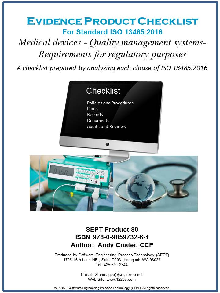 "ISO 13485:2016 ""Medical Devices - Quality Management Systems- Requirements for Regulatory Purposes"""