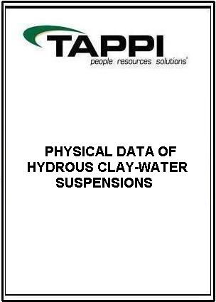 PHYSICAL DATA OF HYDROUS CLAY-WATER SUSPENSIONS