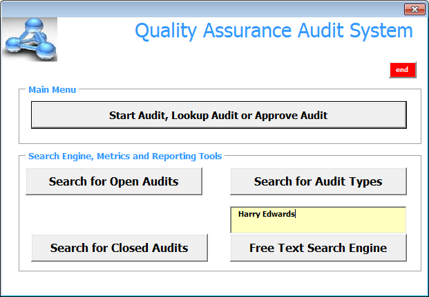 Quality Assurance Audit System (QAAS)